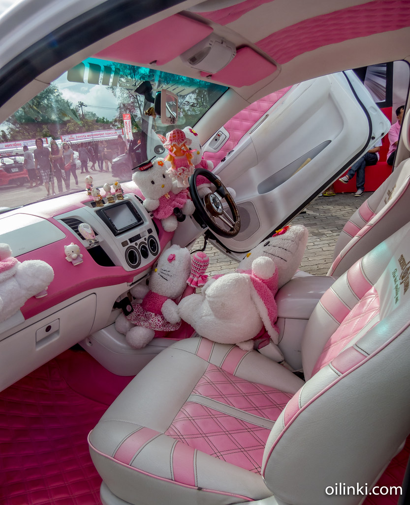 Inside of the Hello Kitty car, Phuket Thailand