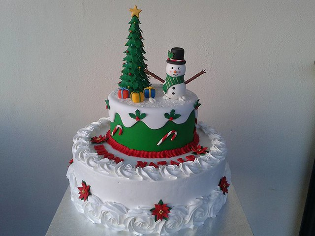 Christmas Themed Cake by Le creazioni di Lupa