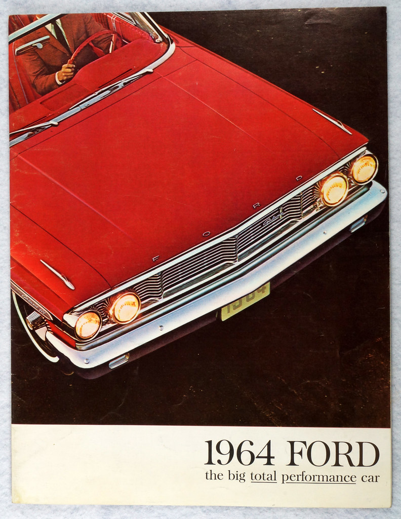 RD12665 1964 Ford Galaxie 500 XL Custom Country Squire Color Brochure Catalog DSC08644
