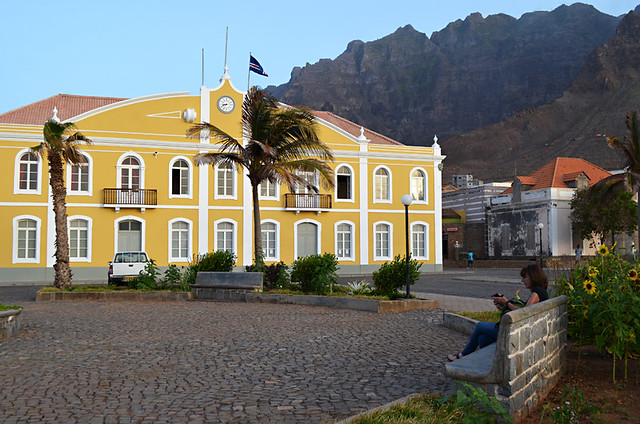 Wifi in the square, Punto do Sol, Santo Antao, Cape Verde