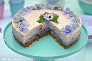 Gluten free blueberry & raspberry cheesecake 2