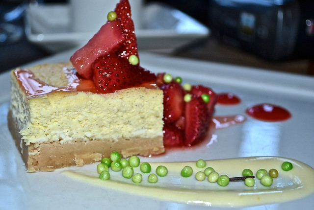 Strawberry Cheesecake - Solcstice Restaurant - Stowe Mountain Lodge, Vermont