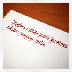 #handwrittenABC #practice #calligraphy #juggling
