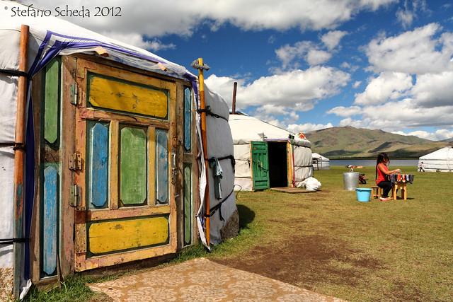 Ger camp - Terkhiin Tsagaan Nuur, Mongolia