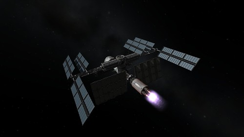 Atlantis 1 Burns to High Kerbin Orbit