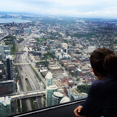 High above the city! #hayleyssweetadventure #cntower