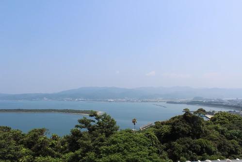 富岡城跡からの風景