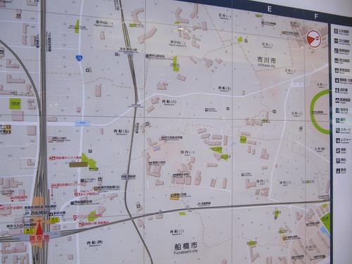 西船橋駅から中山競馬場までの地図