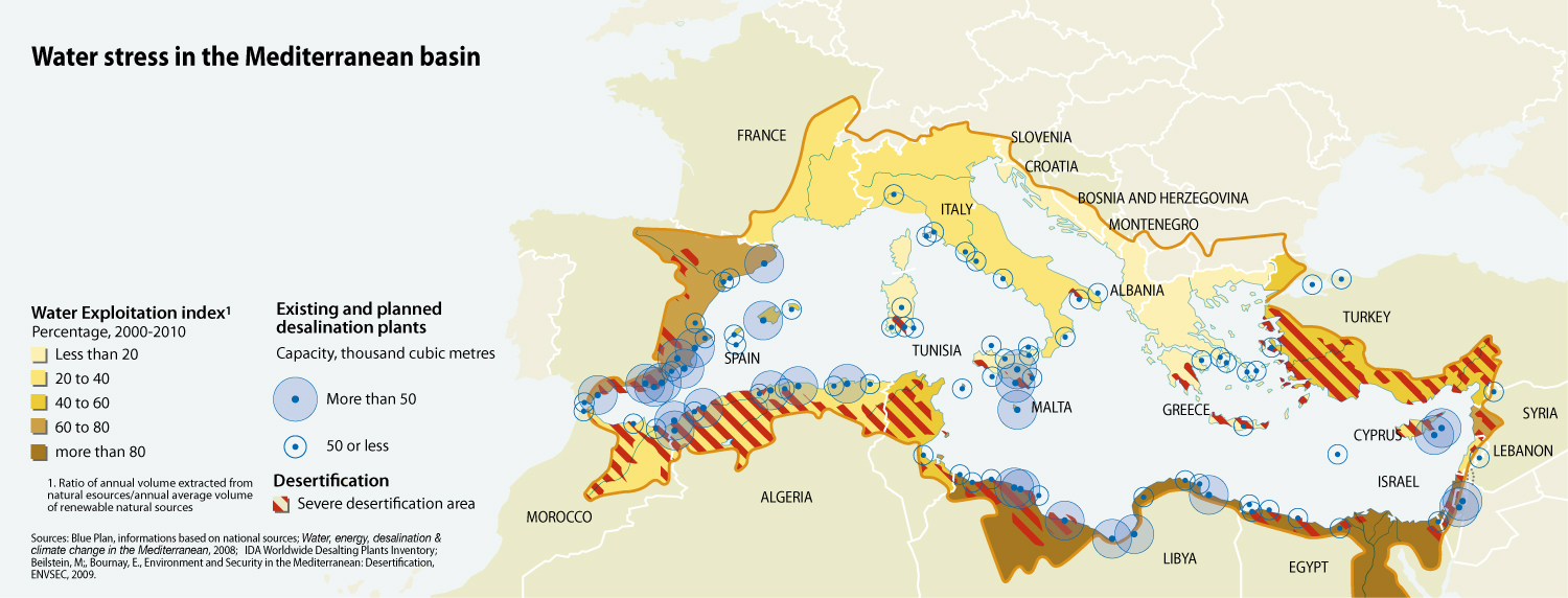 Water Stress In The Mediterranean Basin Grid Arendal