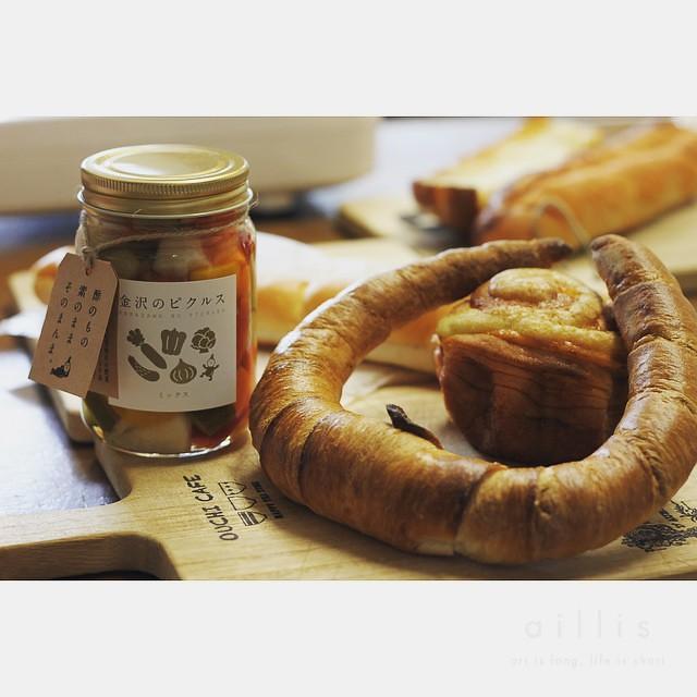 今朝の朝食は、金沢のジョアンのパン(^^)お嫁ちゃんが買ってきてくれました。