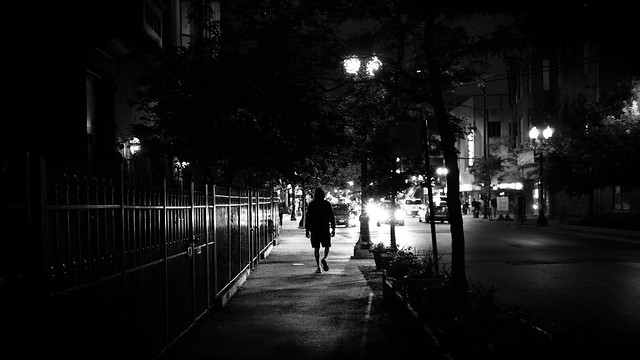 From the dark - Chicago, United States - Black and white street photography