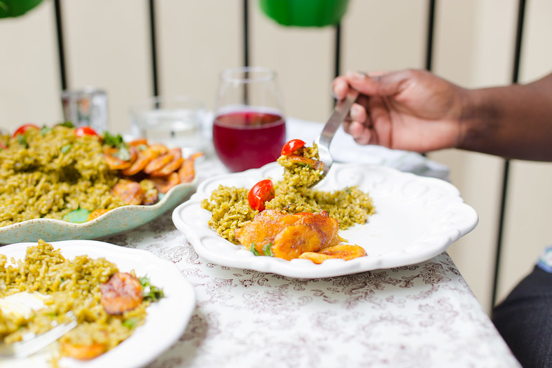 Herbed Green Rice