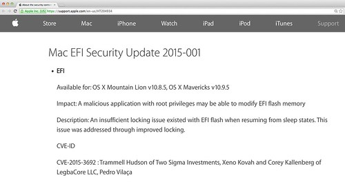 Apple EFI update for CVE-2015-3692