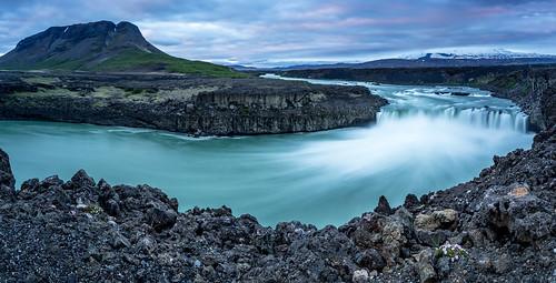 travel panorama nature water waterfall iceland midnight ísland náttúra midnightsun búrfell amazingview jonhelgi leefilter þjófafoss þjórsárdalur þjórsá ferðast canoneos6d merkurhraun