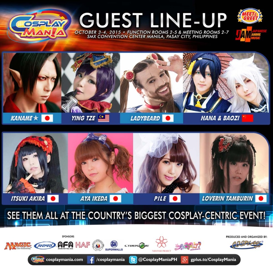 Cosplay Mania 15 Announces Guest Line-Up
