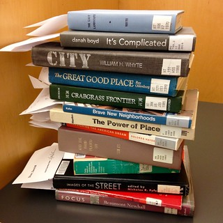 Massive book haul from Gleeson Library to help me rethink and redesign my fall 2015 #goldengatepark first-year seminar