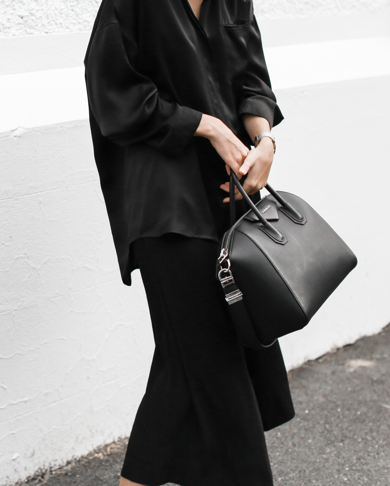 modern legacy, fashion blog, street style, blogger, all black, Bassike, resort wear, Givenchy Medium Antigona, Haider Ackermann (1 of 1)