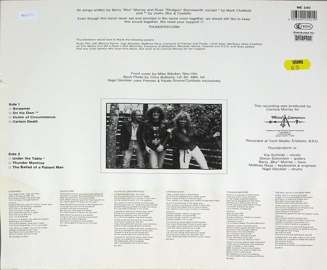 "THUNDERSTORM SNAFU S.N.A.F.U 12"" LP VINYL"