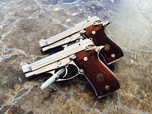 Beretta 84FS & 85FS Cheetahs in Nickel & Walnut