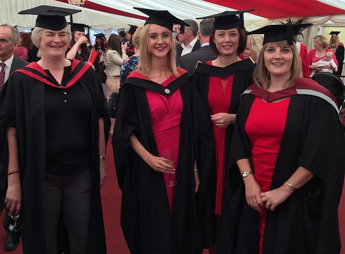 Maura Collins with some of her tutors from Diagnostic Imaging Donna Dimond (on far right)