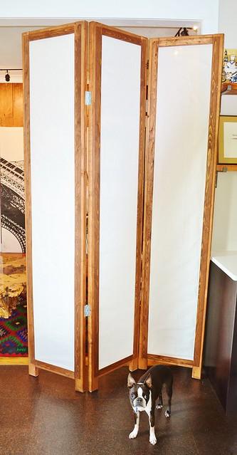 DIY Folding Three-Panel Room Divider - Upcycled Ugly