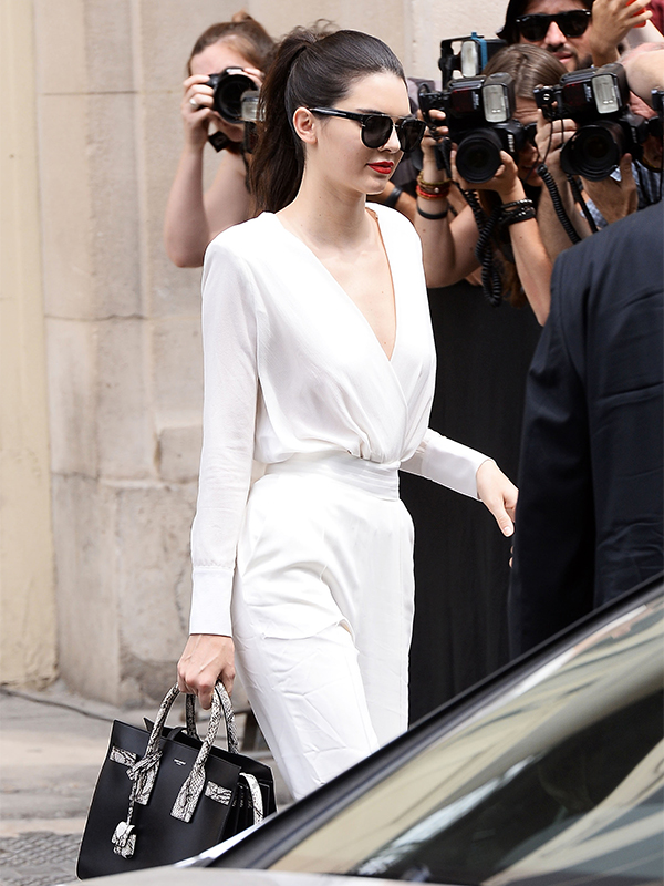 Kendall Jenner Leaving the Chanel fashion show in Paris
