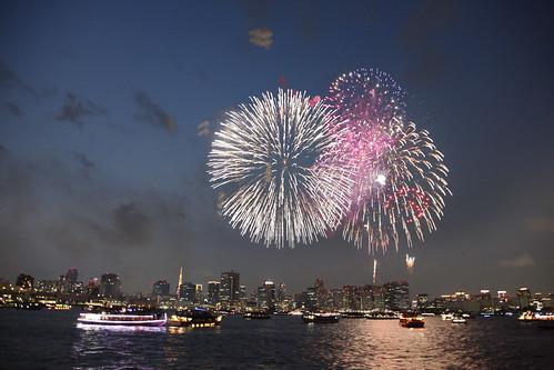 Japanese Fireworks in Tokyo Bay 2015