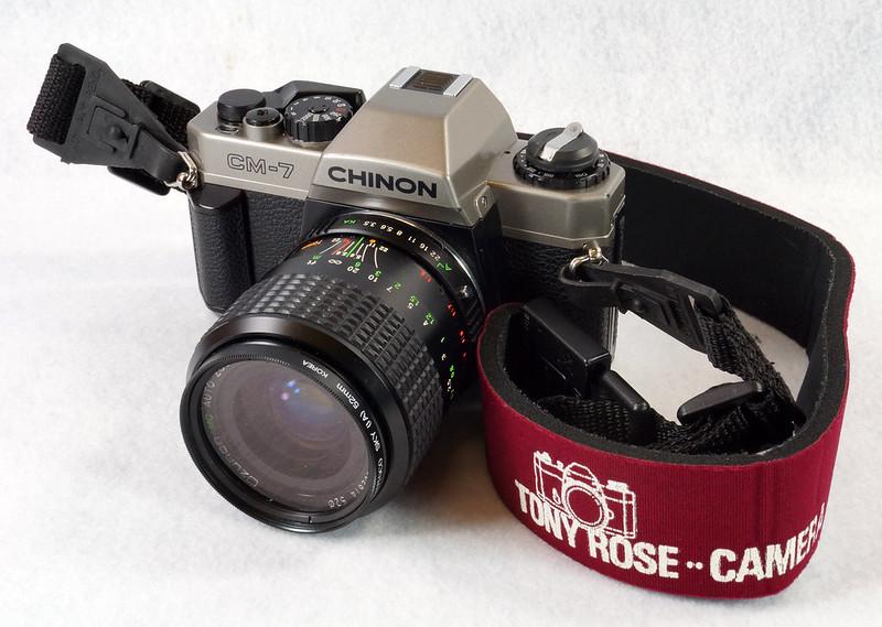 RD14976 Chinon CM-7 35mm SLR Film Camera, 50mm Ozunon Lens, Manuals & Coastar Case DSC07821