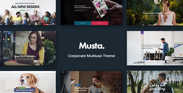 Musta v1.0 - Corporate Multiuse WordPress Theme