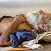 Sadu napping on the bench of a temple by (jimnealephoto@gmail.com)