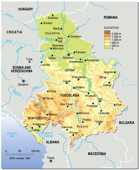 Yugoslavia topographic map grid arendal yugoslavia topographic map gumiabroncs Choice Image
