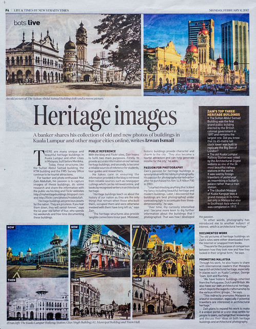 Featured in Life & Times section in the New Straits Times