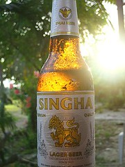 Thu, 19/01/2006 - 11:42 - Our 1st Singha after arrival on Koh Samuis Mae Nam Beach