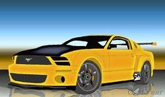 model car(0.0), stock car racing(0.0), automobile(1.0), automotive exterior(1.0), boss 302 mustang(1.0), wheel(1.0), vehicle(1.0), automotive design(1.0), rim(1.0), bumper(1.0), ford(1.0), classic car(1.0), land vehicle(1.0), muscle car(1.0),