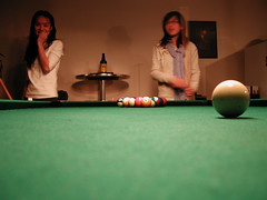 nine-ball(0.0), carom billiards(0.0), english billiards(0.0), pocket billiards(1.0), indoor games and sports(1.0), billiard room(1.0), snooker(1.0), sports(1.0), recreation(1.0), cue stick(1.0), pool(1.0), billiard table(1.0), recreation room(1.0), games(1.0), cue sports(1.0),