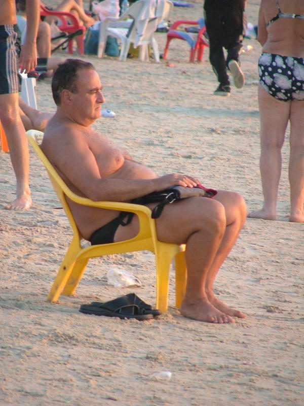 Guy looking at the shore, Tel Aviv