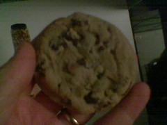 chocolate chip cookie at film screening