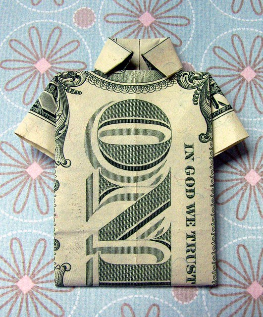 How To Origami Dollar Shirt