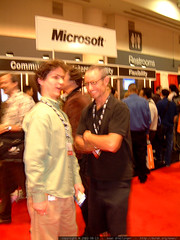 mugging at the microsoft booth   dscf2288