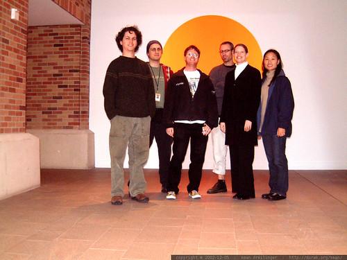 cnet search.com team in the cnet lobby   dscf3509