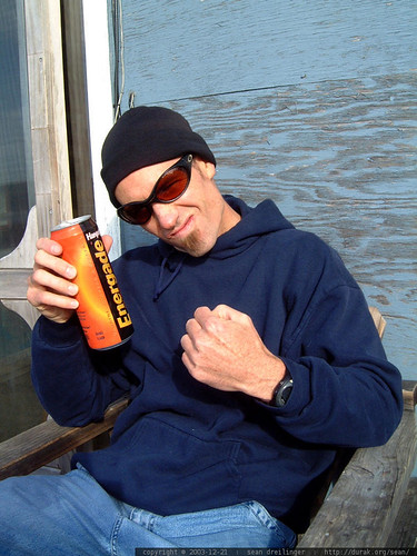 ali g, aka gleeco with hansen's energade energy drink   dscf7404