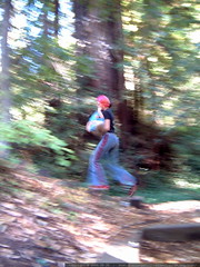 rachel as sasquatch in la honda redwoods   dscf8919