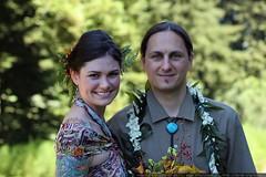 skylonda wedding   husband and wife in the shade