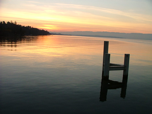Sunset at Lac Léman