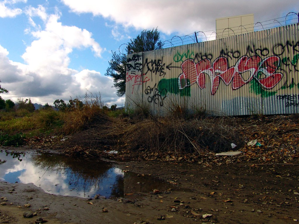 Graffiti with Puddle & Clouds