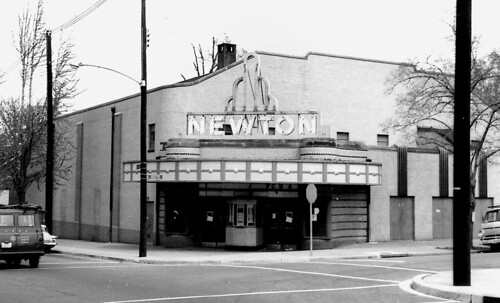 Newton Theater exterior, 1969