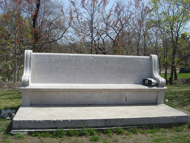 Andrew H Green Memorial Bench Central Park