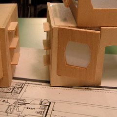 shelf(0.0), toy(0.0), art(1.0), wood(1.0), cardboard(1.0), design(1.0),