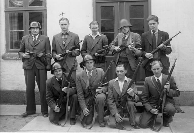 Danish Resistance Odense 1945 Probably A Press
