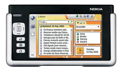 Nokia 770 default start page